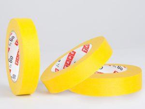 Žuta krep traka visokog kvaliteta namenjena za građevinarstvo 110 stepeni