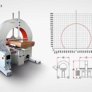 Horizontalna mašina AT-1500-S grafik i šema