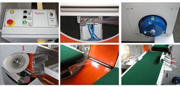 horizontalna mašina sa panelom i postoljem za strečovanje