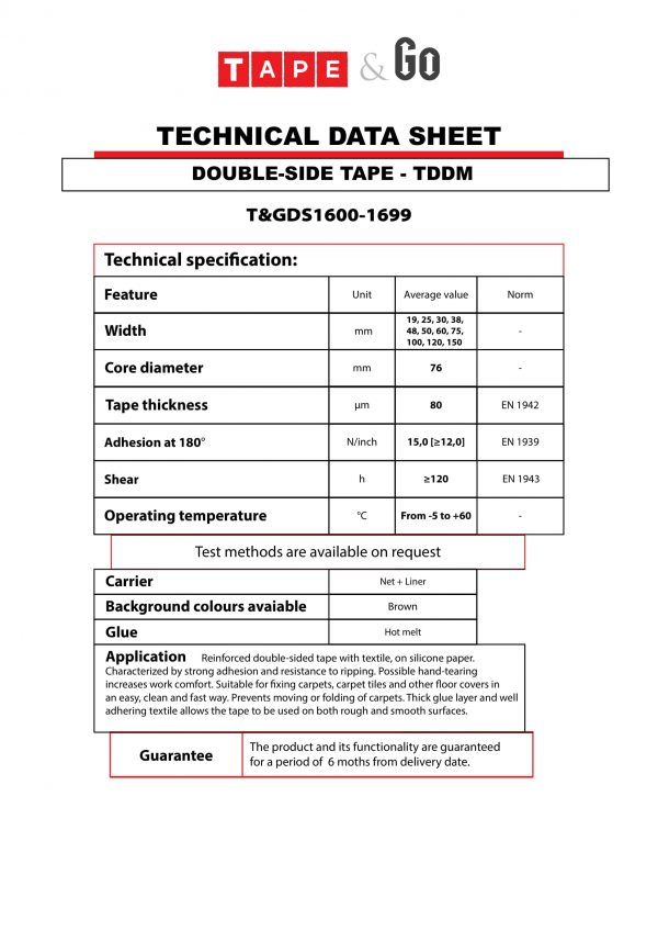 T&GDS1600-1699 TDS